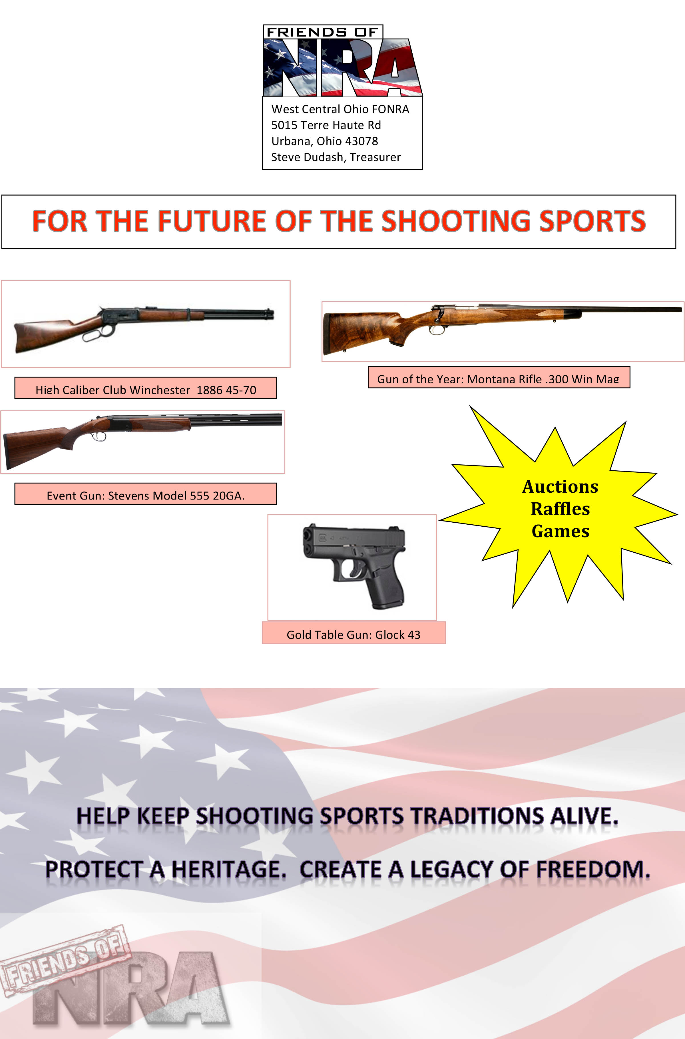 Ohio champaign county urbana 43078 - West Central Ohio Friends Of Nra Flyer 2